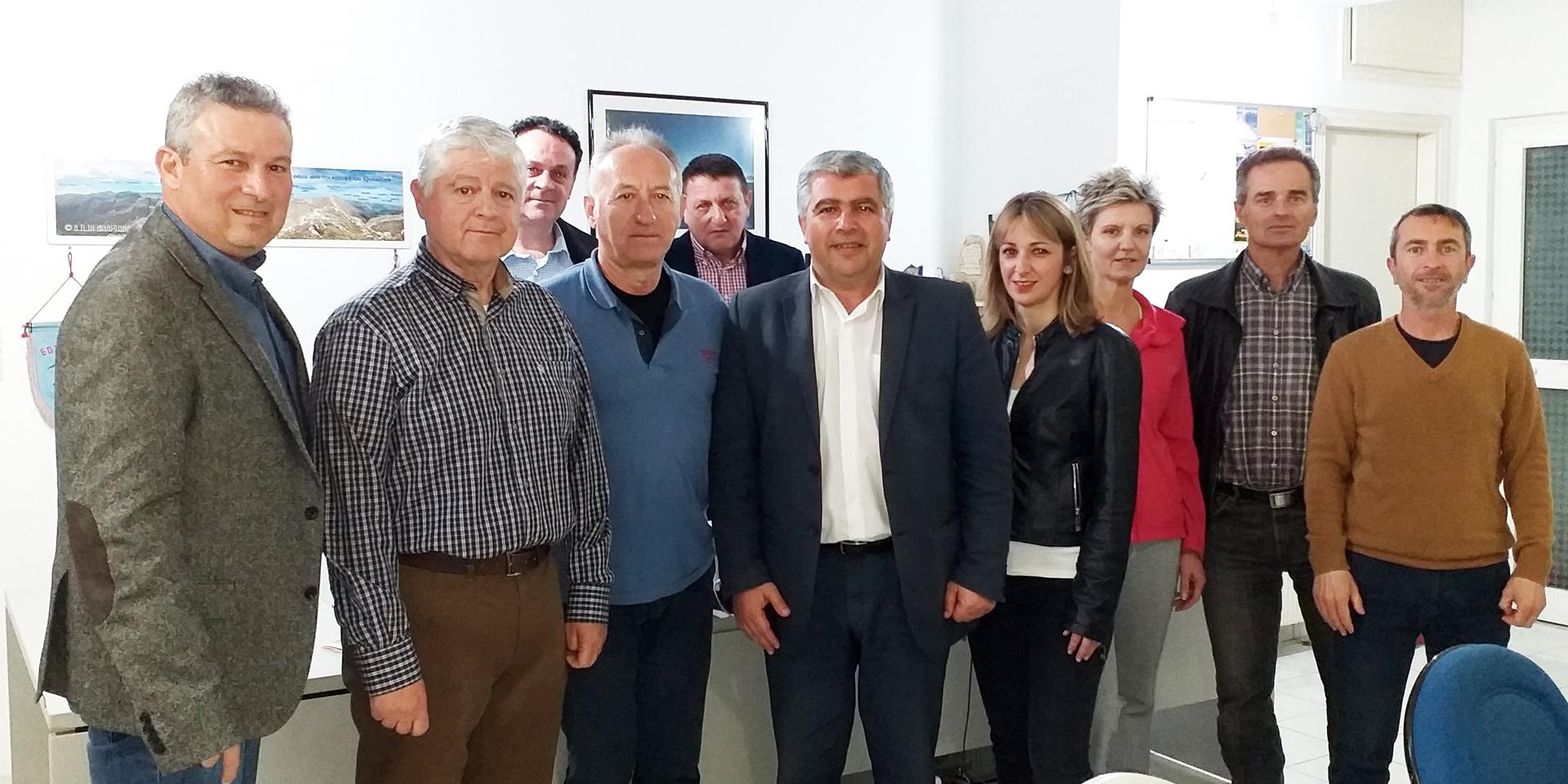 Επίσκεψη ενημέρωσης & συνεργασίας του Υπ. Δημάρχου κ. Νίκου Γεωργάκου στον Ε.Ο.Σ  Πρέβεζας συνοδεία υποψηφίων του συνδυασμού «ΔΗΜΟΣ ΤΗΣ ΚΑΡΔΙΑΣ ΜΑΣ!»