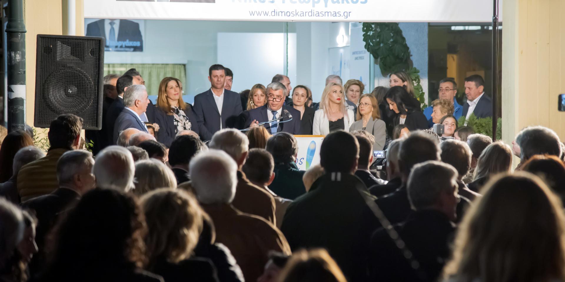Χαιρετισμός του Υποψήφιου Δημάρχου Πρέβεζας Νίκου Γεωργάκου στον Αγιασμό του Εκλογικού Κέντρου